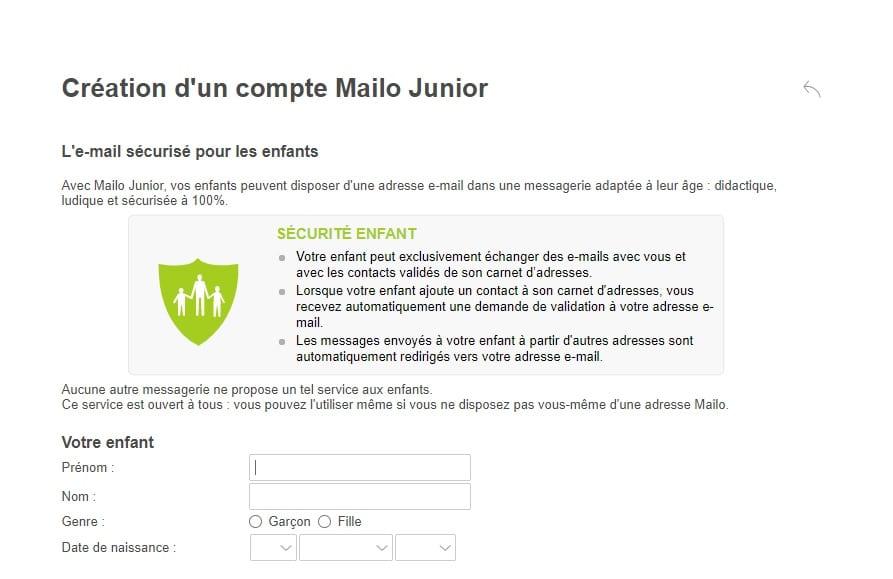 Comment ouvrir un compte Mailo gratuitement ?