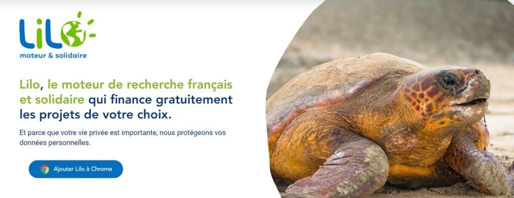 4. Lilo, un moteur de recherche français et responsable